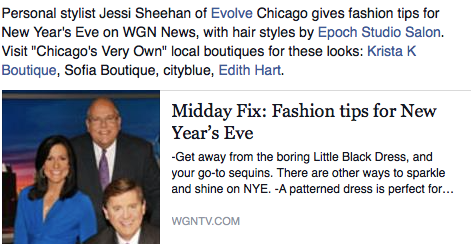 WGN Midday Fix: Fashion Tips For New Year's Eve Segment